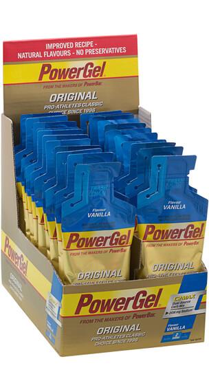 PowerBar Powergel Original - Nutrition sport - Vanilla 24 x 41g beige/bleu